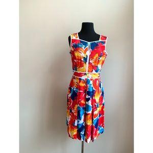 Ellen Tracy Peek-A-Boo Tropical Dress